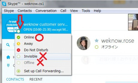 Be online! Learn Japanese online via Skype! Do not be Invisible or offline.