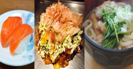 Sushi, Okonomiyaki, Udon